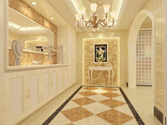 欧式玄关瓷砖装修效果图