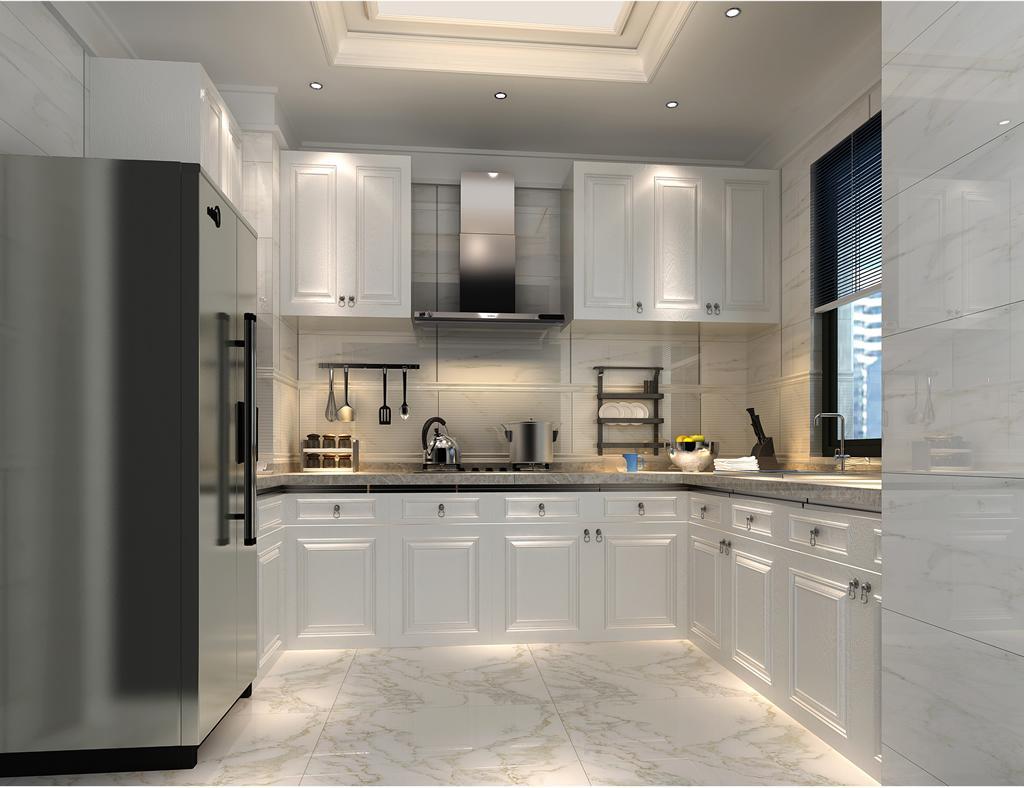 简欧厨房瓷砖装修效果图