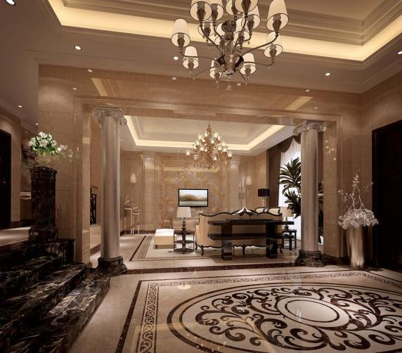 欧式风格客厅瓷砖装修效果图