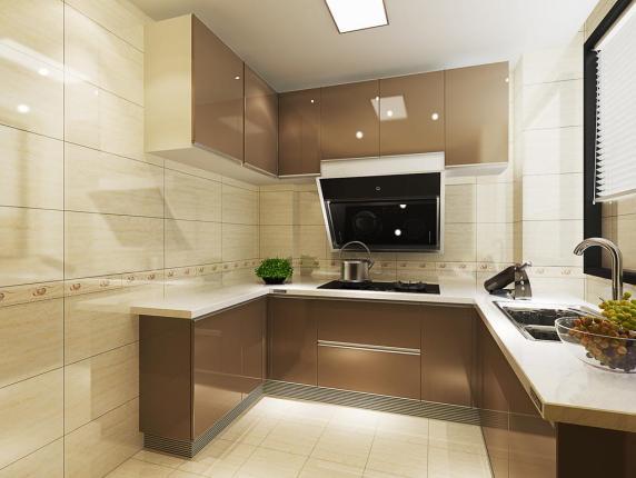 简约厨房象牙洞石瓷砖装修效果图