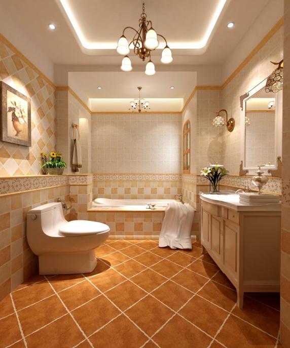 美式乡村浴室装修效果图