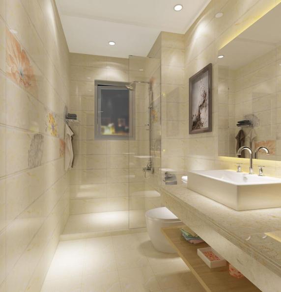 简约卫生间瓷砖装修效果图