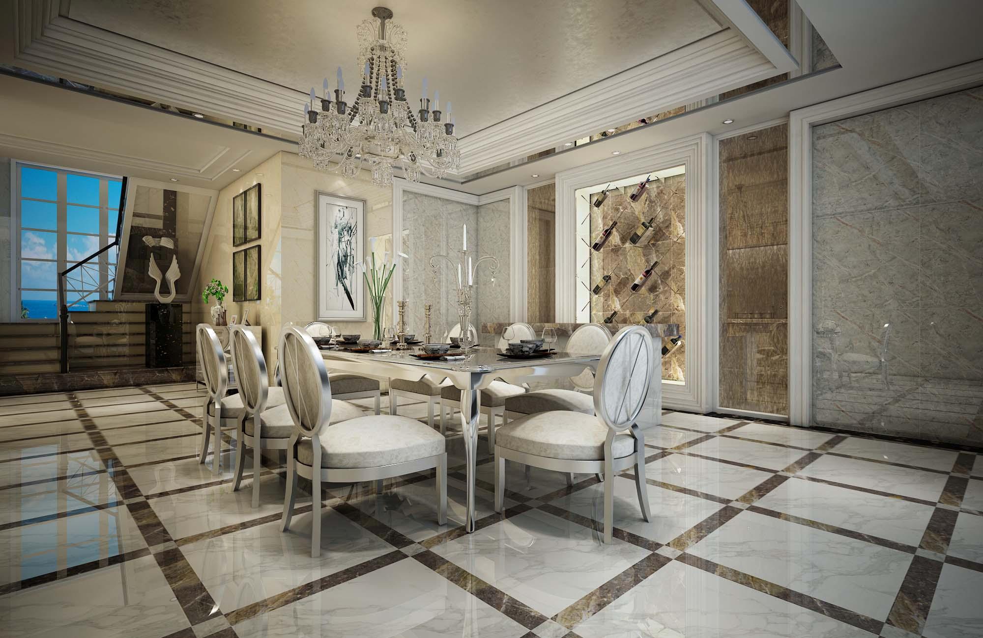 拋釉磚歐式餐廳裝修
