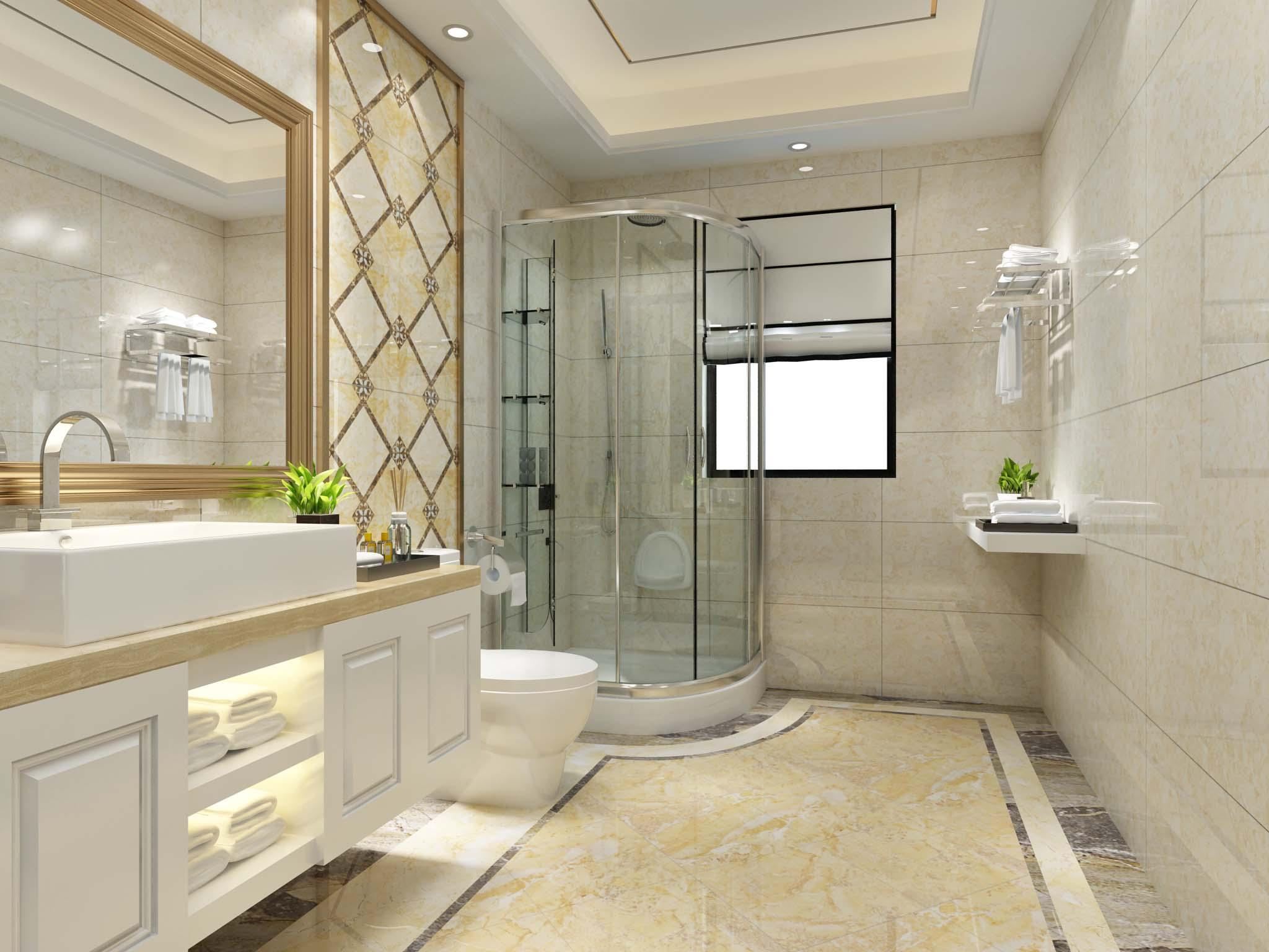 欧式卫浴瓷砖装修效果图