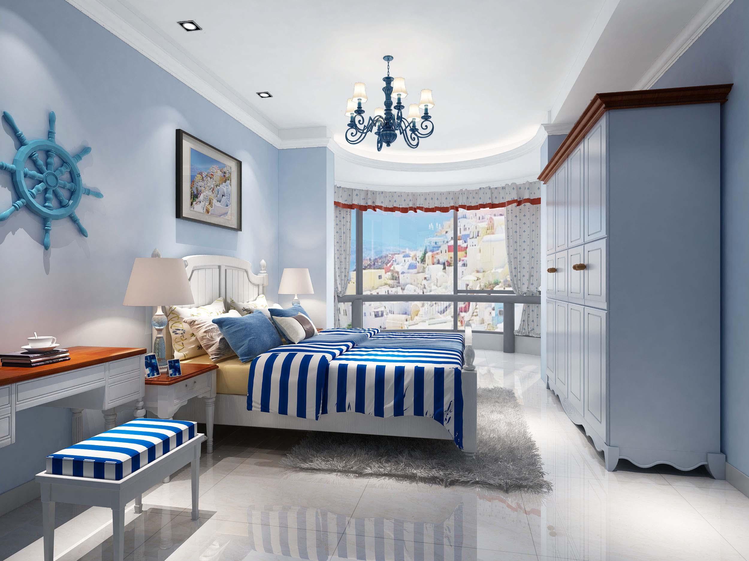 地中海卧室瓷砖装修效果图