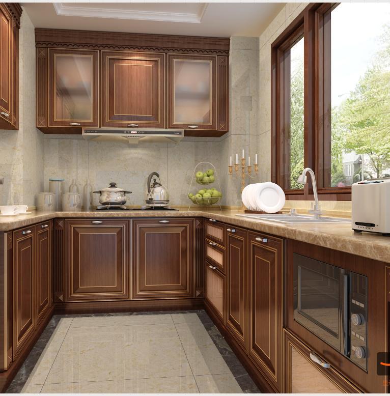 中式廚房大戶型裝修圖