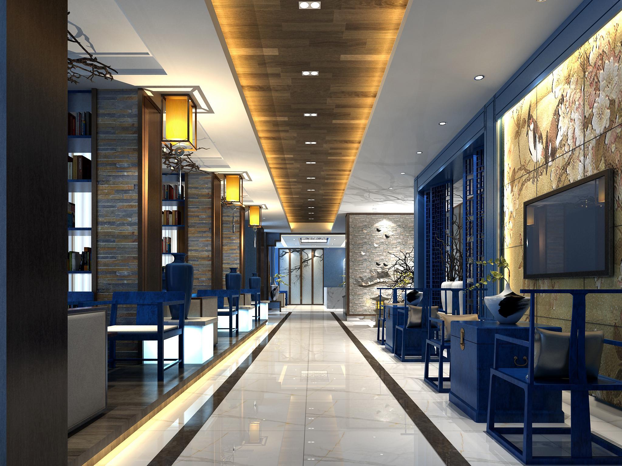 中式餐厅过道装修效果图