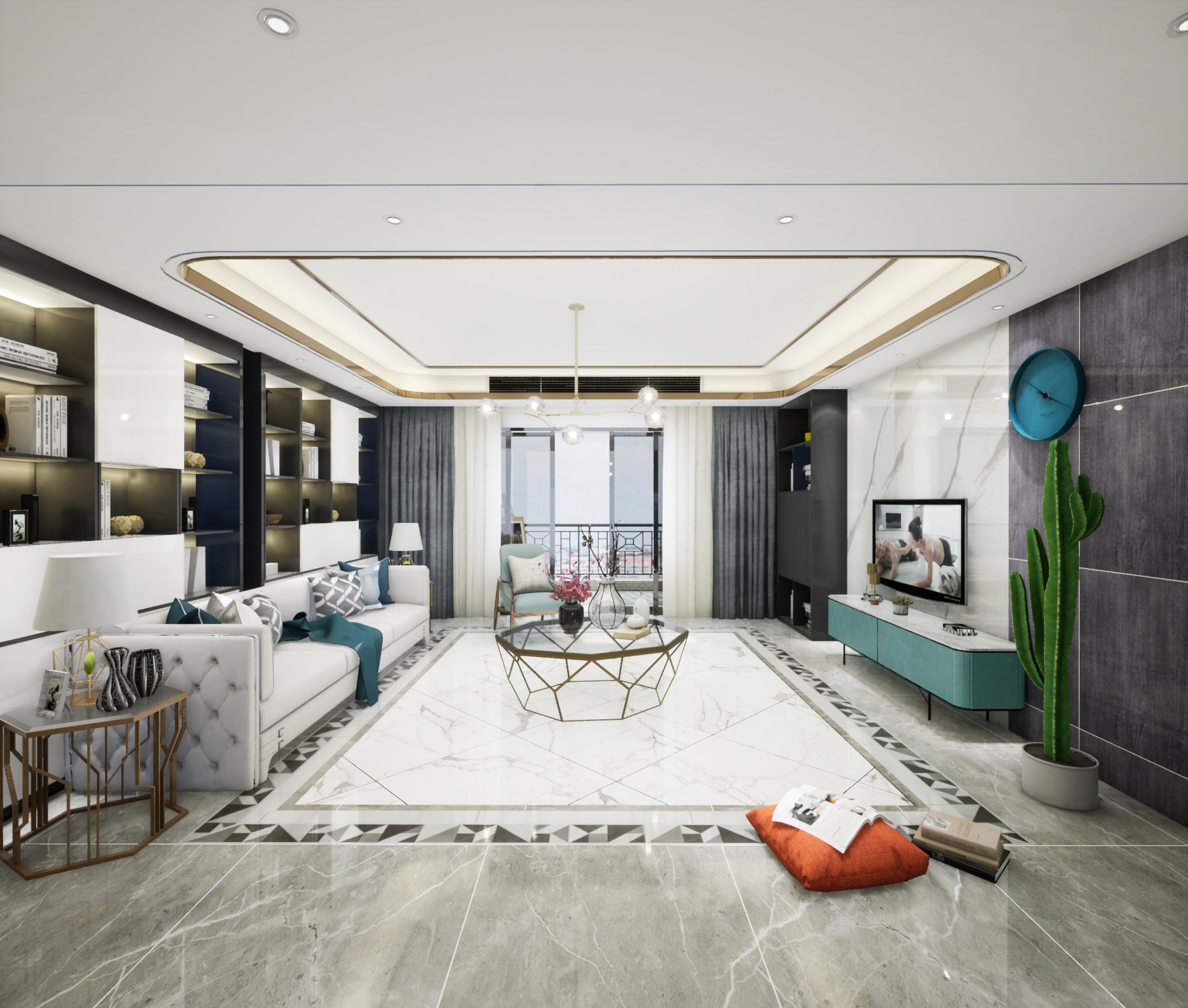 天山国宾一号-华韵户型现代客厅