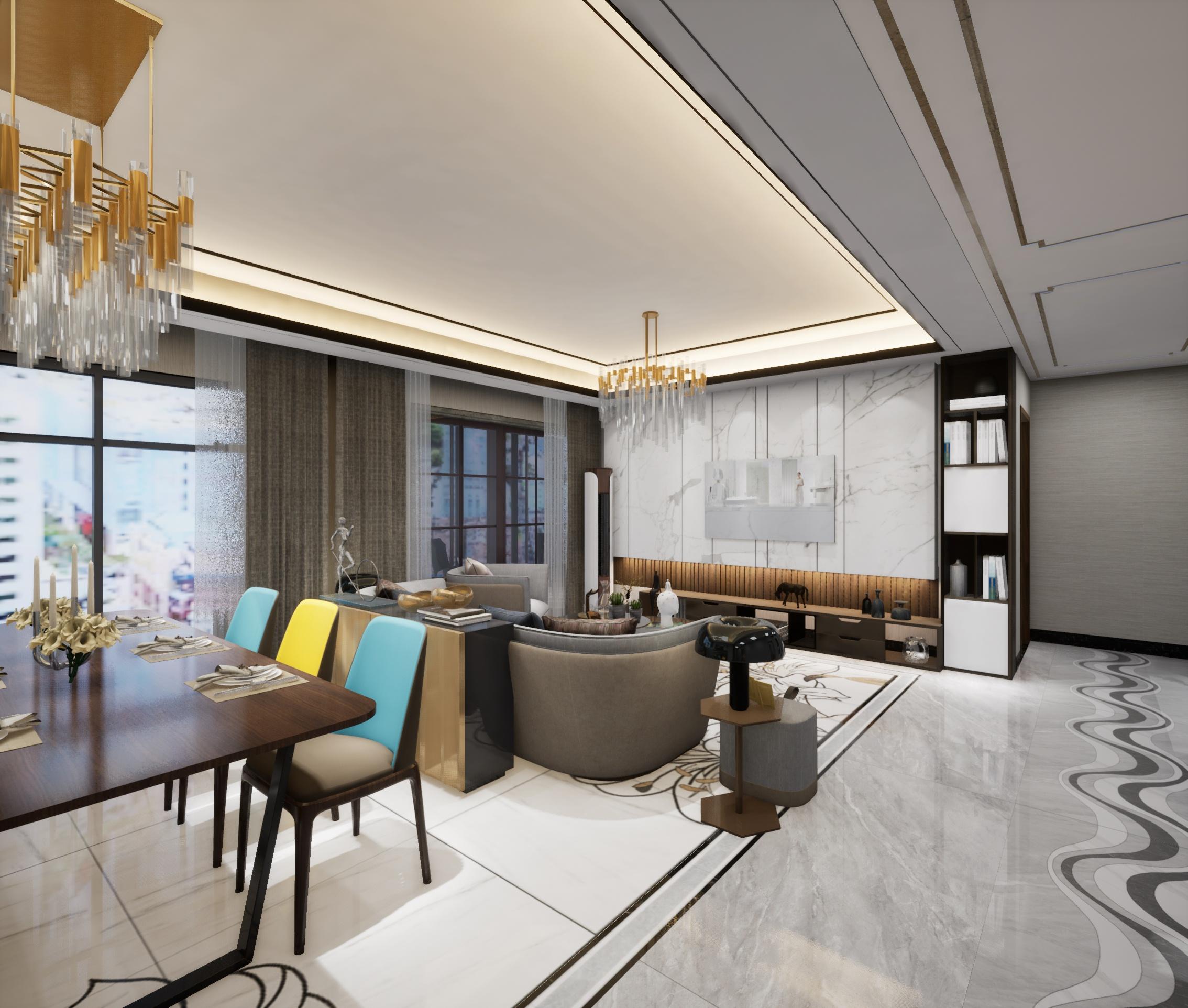 保利香檳國際現代客廳