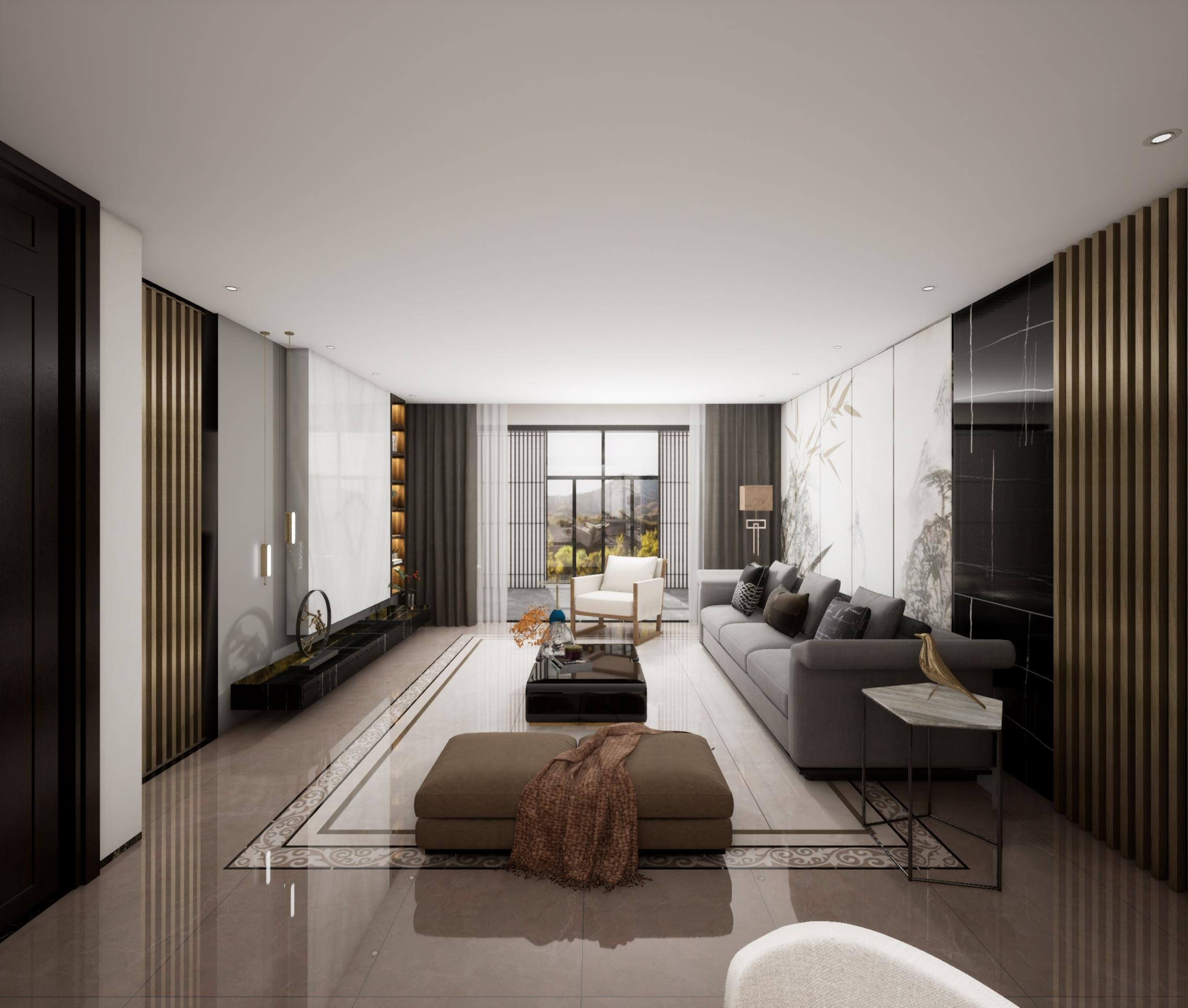 株洲玫瑰园-E户型中式客厅